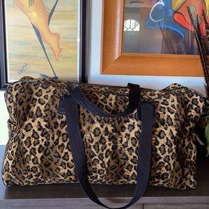 Large Leopard Duffel Bag